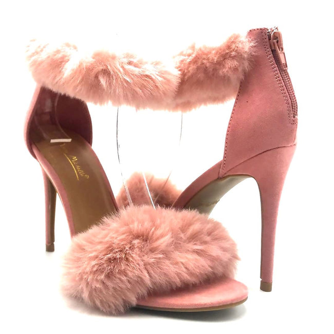 Anne Michelle Dashing-47 Blush Color Heels Both Shoes together, Women Shoes