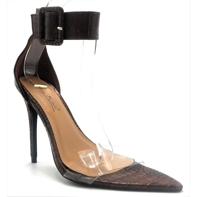 Anne Michelle Exception-26 Brown Color Heels Shoes for Women