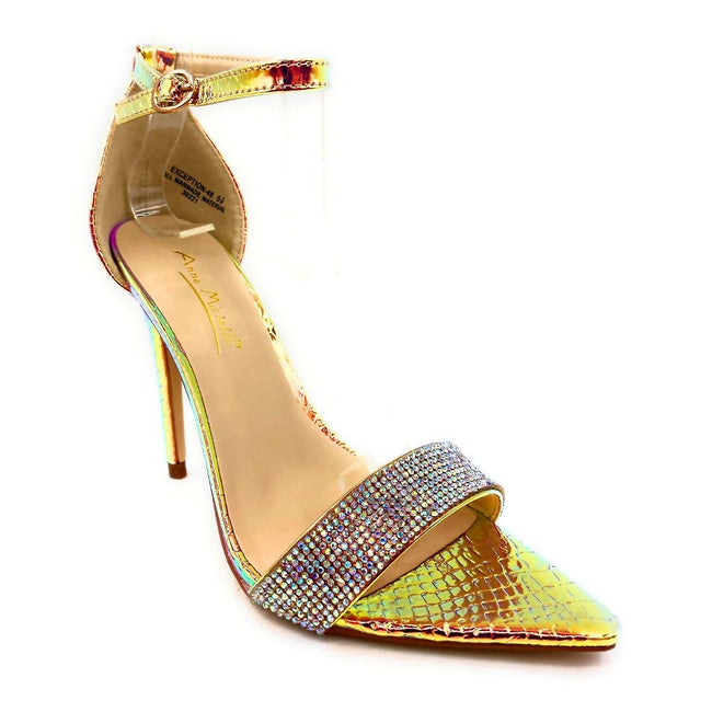 Anne Michelle Exception-48 Iridescent Color Heels Right Side View, Women Shoes