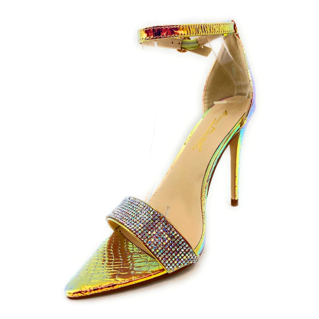 Anne Michelle Exception-48 Iridescent Color Heels Left Side view, Women Shoes
