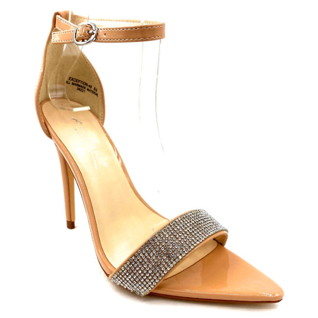 Anne Michelle Exception-48 Nude Color Heels Right Side View, Women Shoes