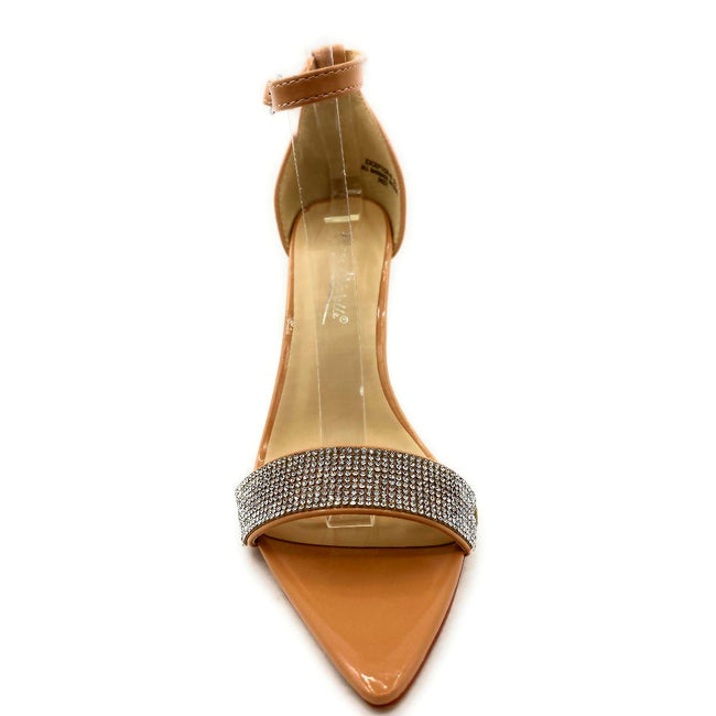 Anne Michelle Exception-48 Nude Color Heels Front View, Women Shoes