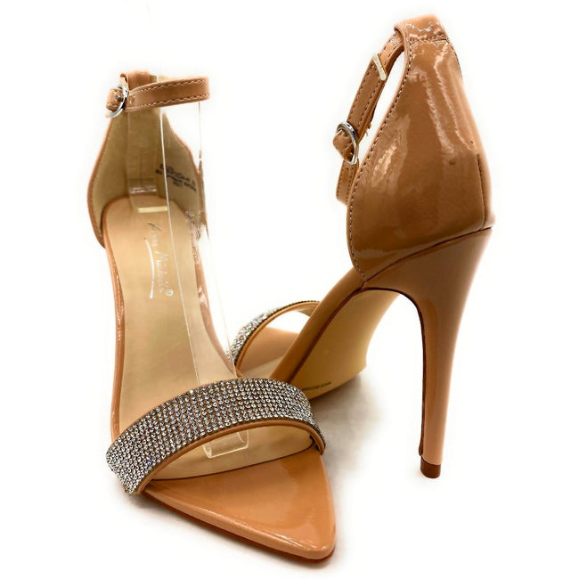Anne Michelle Exception-48 Nude Color Heels Both Shoes together, Women Shoes