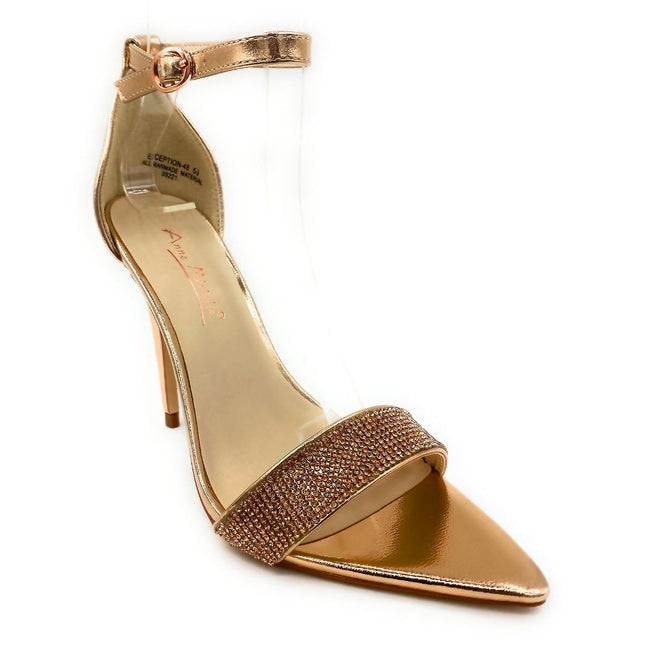 Anne Michelle Exception-48 Rose Gold Color Heels Right Side View, Women Shoes