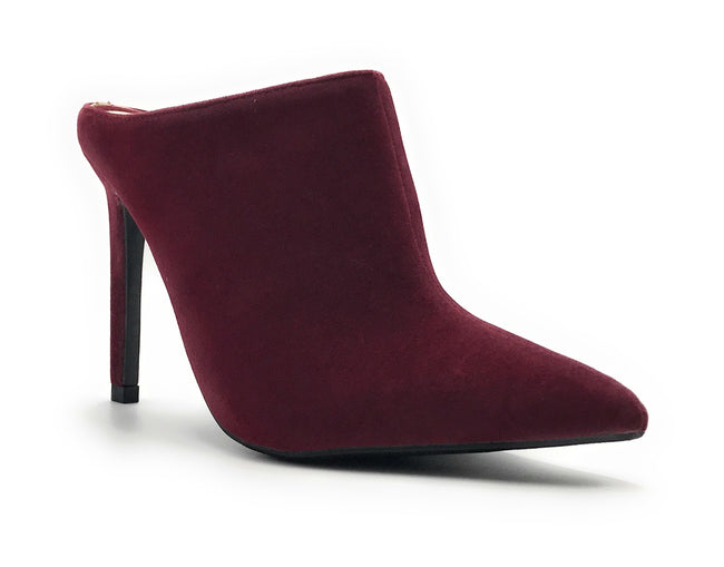 Anne Michelle Stepup-11 Burgundy Color Heel Shoes for Women