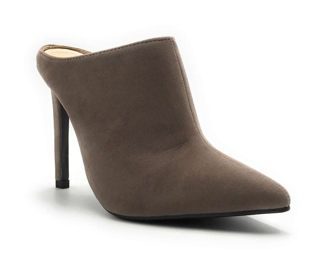 Anne Michelle Stepup-11 Taupe Color Heel Shoes for Women