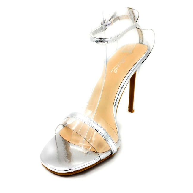 Anne Michelle Timeless-11S Silver Color Heels Left Side view, Women Shoes