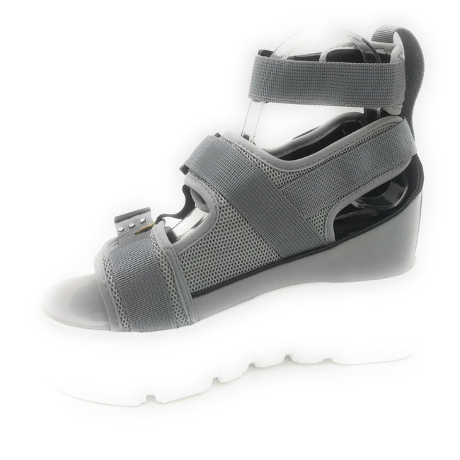 Anthony Wang Cranberry-02 Grey Color Flat-Sandals Shoes for Women