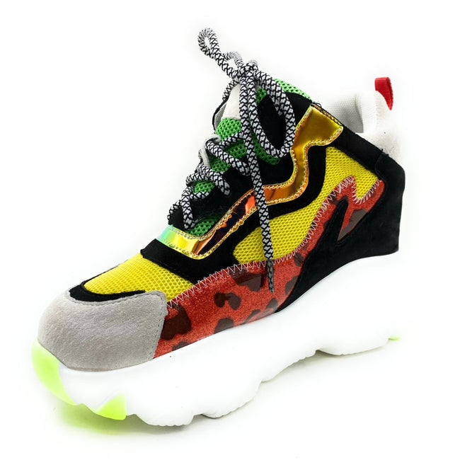 Anthony Wang Lime-04 Multi Color Fashion Sneaker Shoes for Women