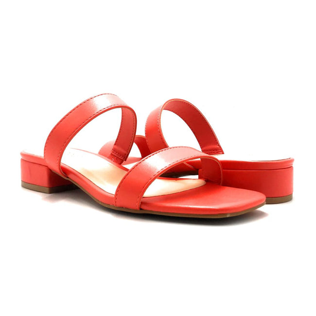 Bamboo Airy-04 Coral Color Flat-Sandals Both Shoes together, Women Shoes