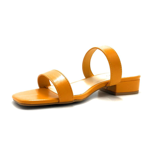 Bamboo Airy-04 Mari Gold Color Flat-Sandals Left Side view, Women Shoes