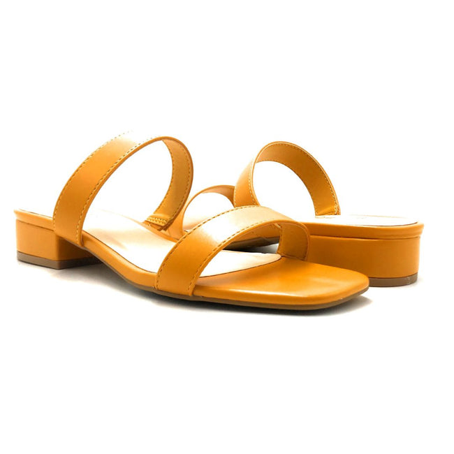 Bamboo Airy-04 Mari Gold Color Flat-Sandals Both Shoes together, Women Shoes