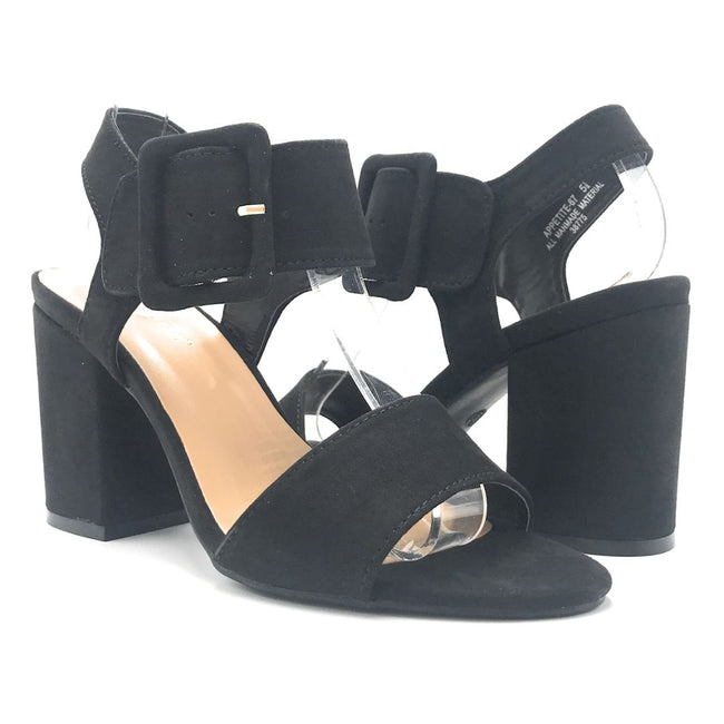 Bamboo Appetite-67 Black Color Heels Shoes for Women