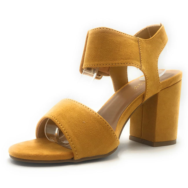 Bamboo Appetite-67 Marigold Color Heels Shoes for Women
