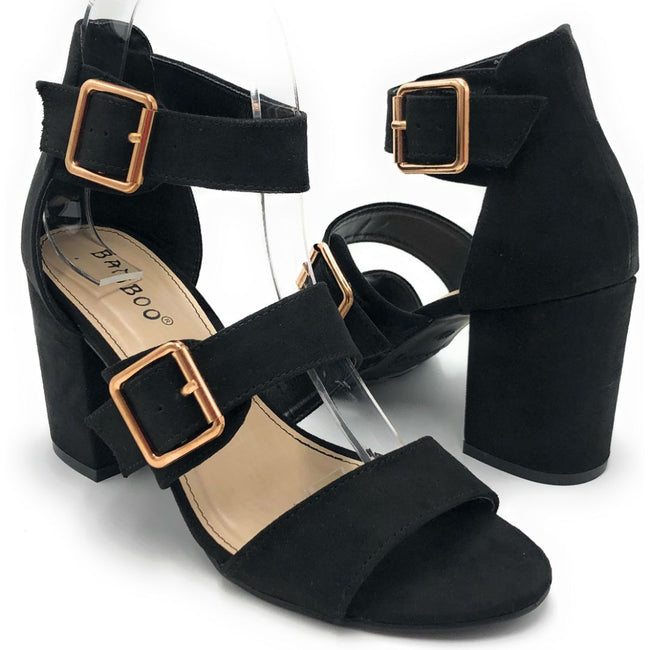 Bamboo Appetite-70 Black Color Heels Shoes for Women