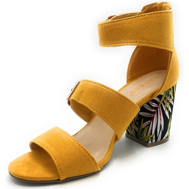 Bamboo Appetite-70 Marigold Color Heels Shoes for Women