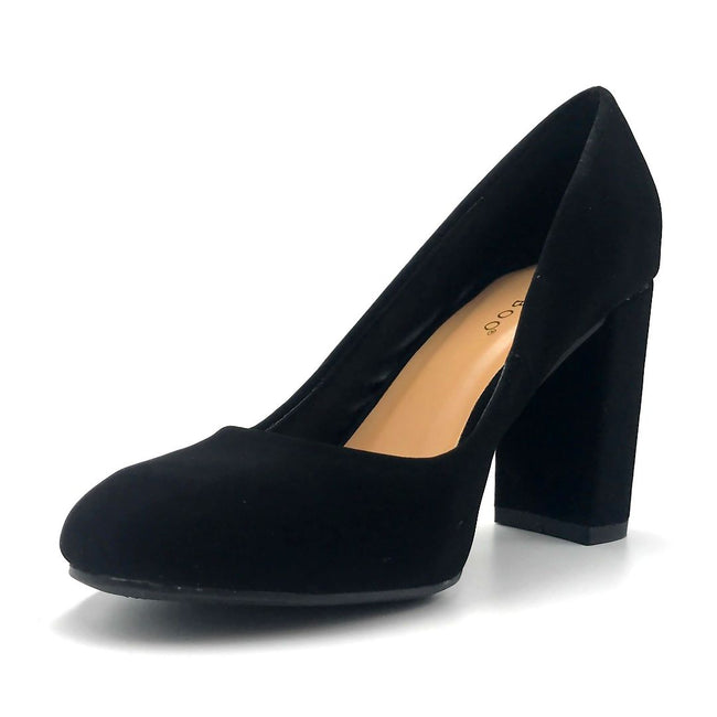 Bamboo Camellia-04 Black Color Ballerina Left Side view, Women Shoes