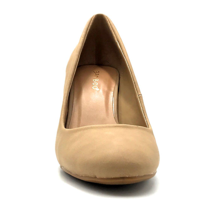 Bamboo Camellia-04 Natural Color Ballerina Front View, Women Shoes