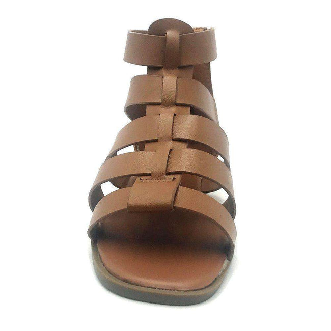 Bamboo Delighted-15 Tan Color Flat-Sandals Shoes for Women