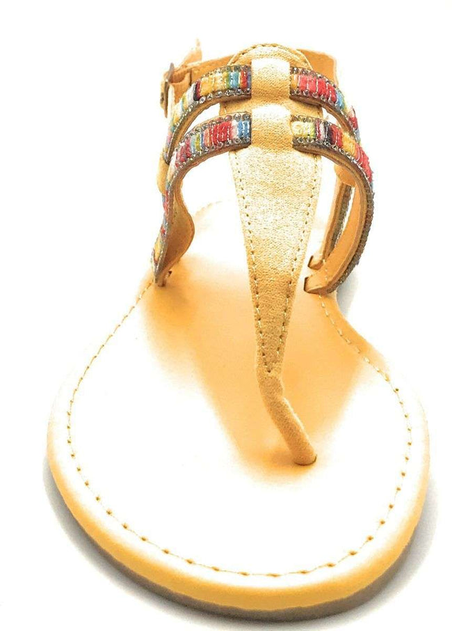 Bamboo Elektra-10S Yellow Color Flat-Sandals Shoes for Women