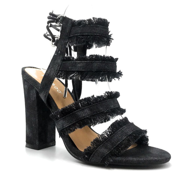 Bamboo Encounter-88s Black Color Heels Right Side View, Women Shoes