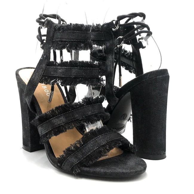 Bamboo Encounter-88s Black Color Heels Both Shoes together, Women Shoes