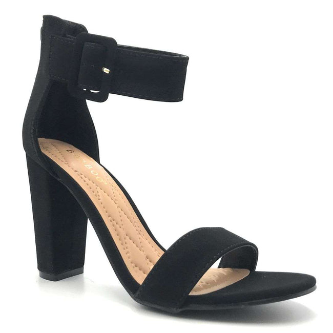 Bamboo Frenzy-60S Black Color Heels Shoes for Women