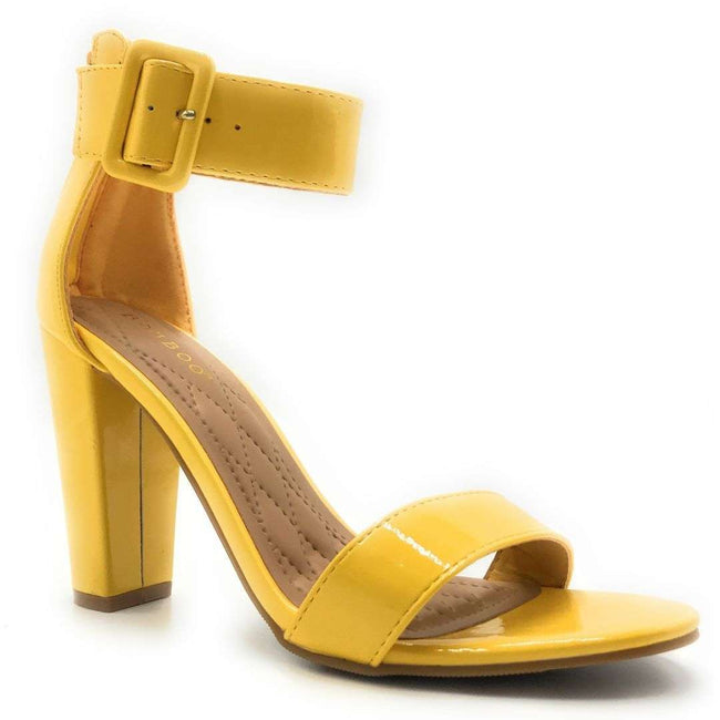 Bamboo Frenzy-60S Yellow Color Heels Shoes for Women