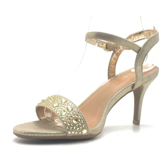 Bamboo Harleen-95S Gold Color Heels Shoes for Women