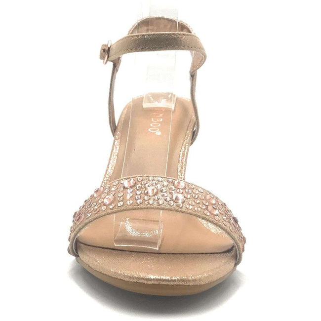 Bamboo Harleen-95S Rose Gold Color Heels Shoes for Women