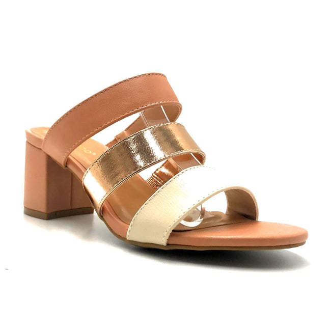 Bamboo Headline-12 Blush Color Heels Right Side View, Women Shoes
