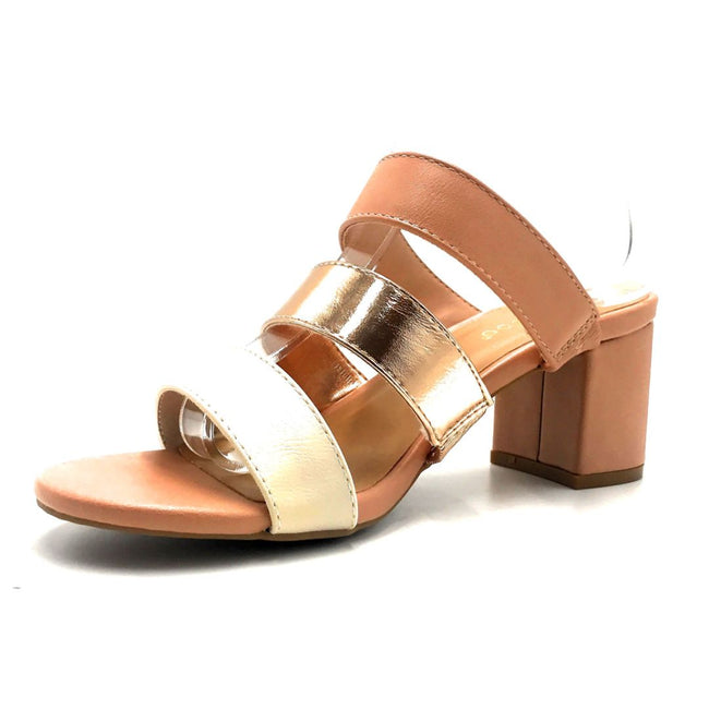 Bamboo Headline-12 Blush Color Heels Left Side view, Women Shoes