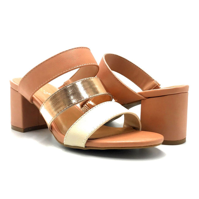 Bamboo Headline-12 Blush Color Heels Both Shoes together, Women Shoes