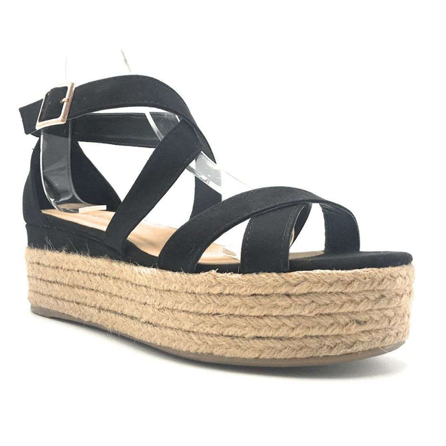 Bamboo Infinity-34 Black Color Wedge Shoes for Women