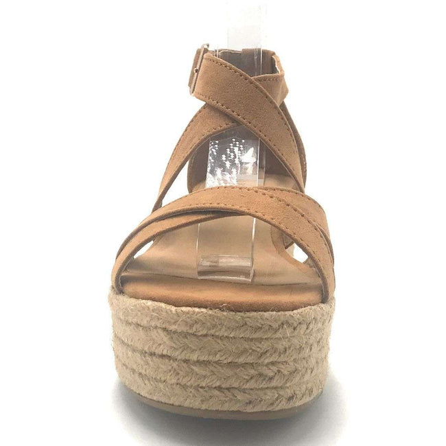 Bamboo Infinity-34 Tan Color Wedge Shoes for Women