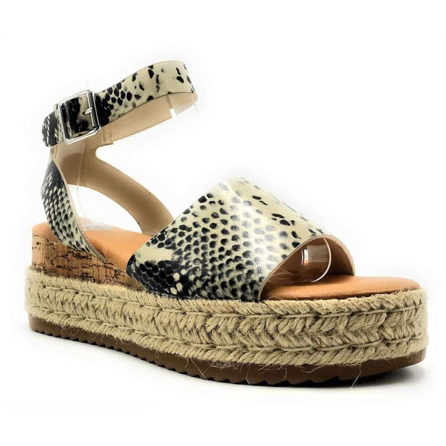 Bamboo Leading-01 Beige Color Wedge Shoes for Women