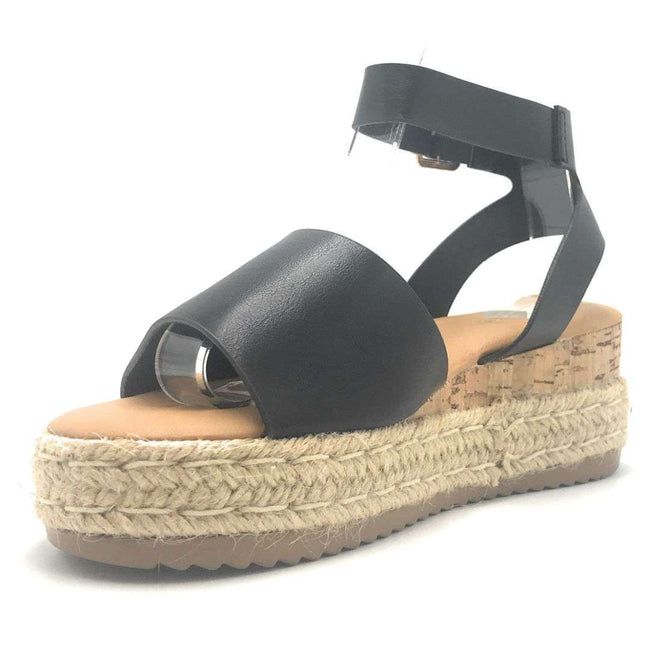 Bamboo Leading-01 Black Color Wedge Shoes for Women