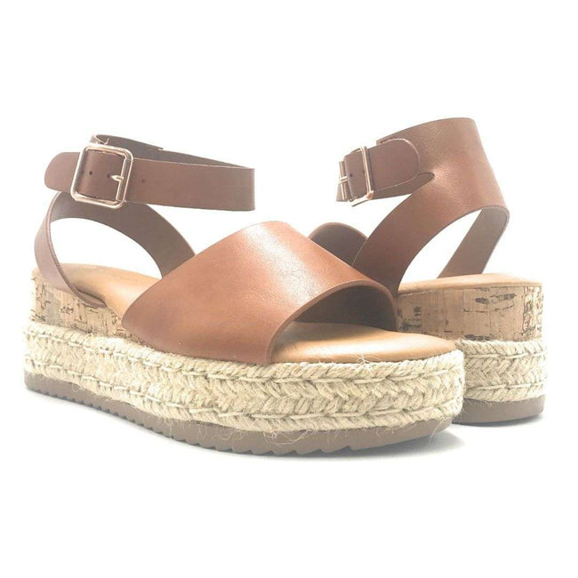 Bamboo Leading-01 Tan Color Wedge Shoes for Women