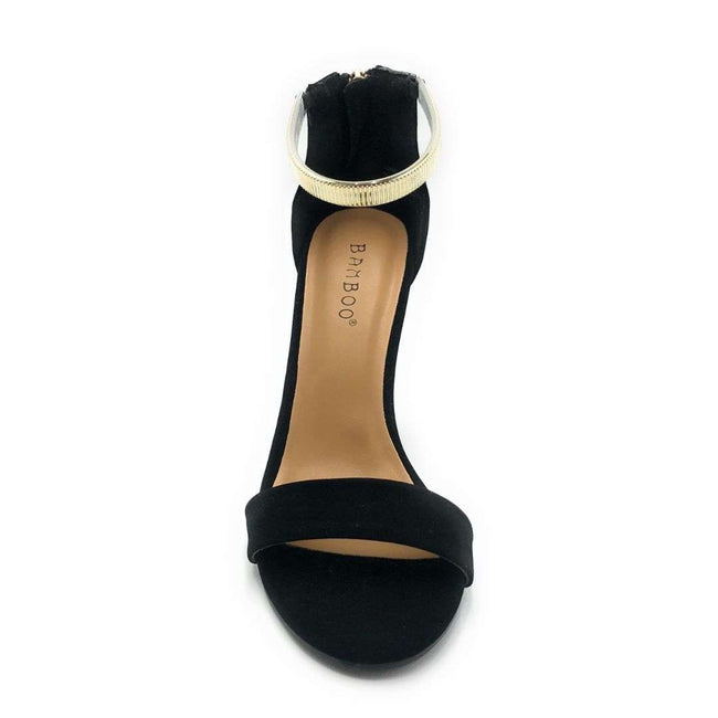 Bamboo Limelight-33M Black Color Heels Shoes for Women