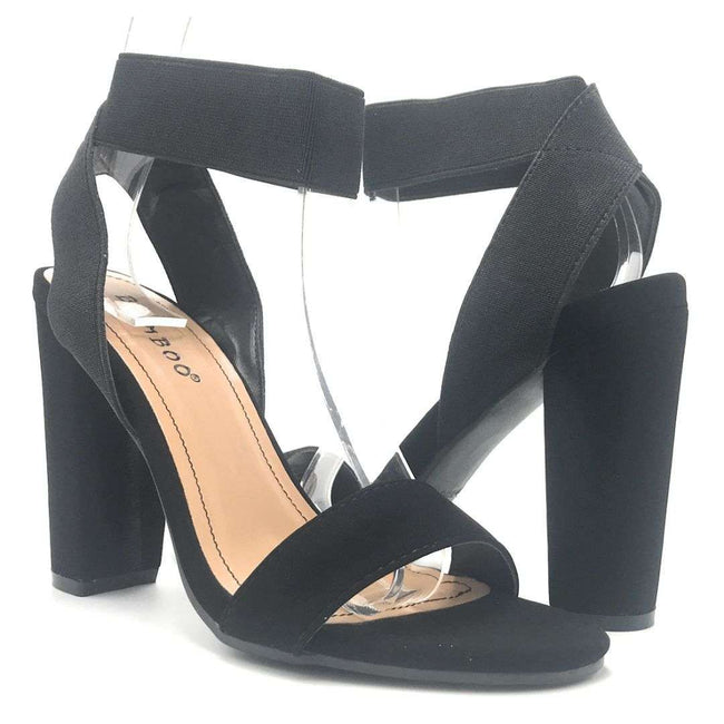 Bamboo Mania-33 Black Color Heels Shoes for Women