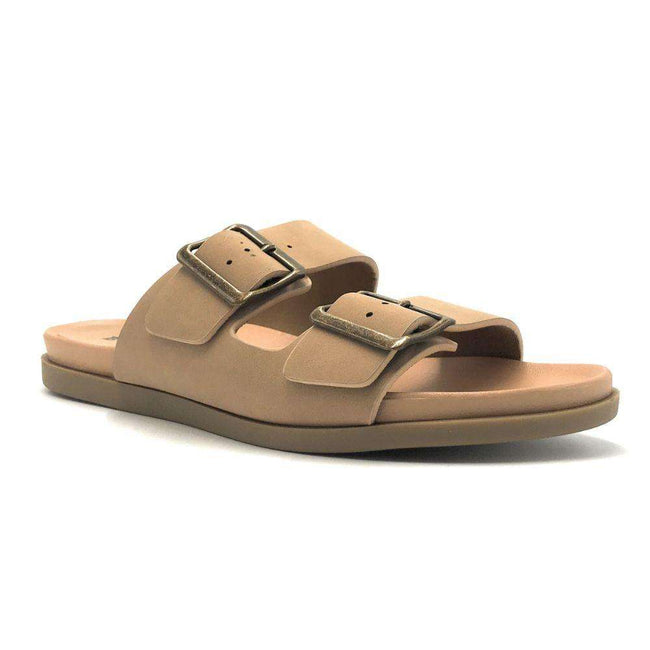 Bamboo Mission-09XM Natural Color Flat-Sandals Shoes for Women