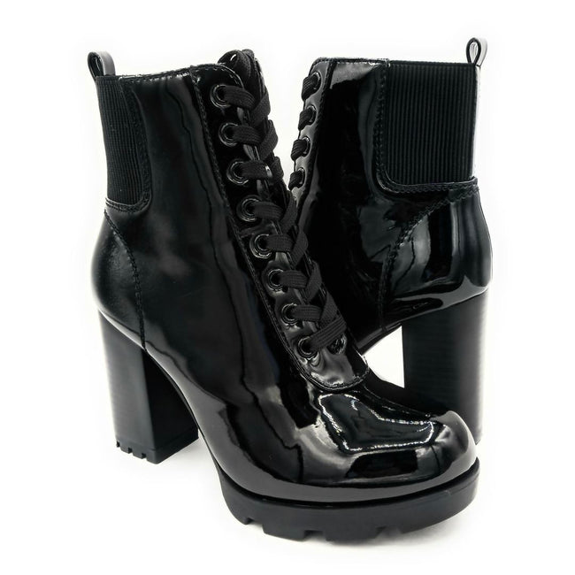 Bamboo Pilate-09 Black Color Boots Both Shoes together, Women Shoes