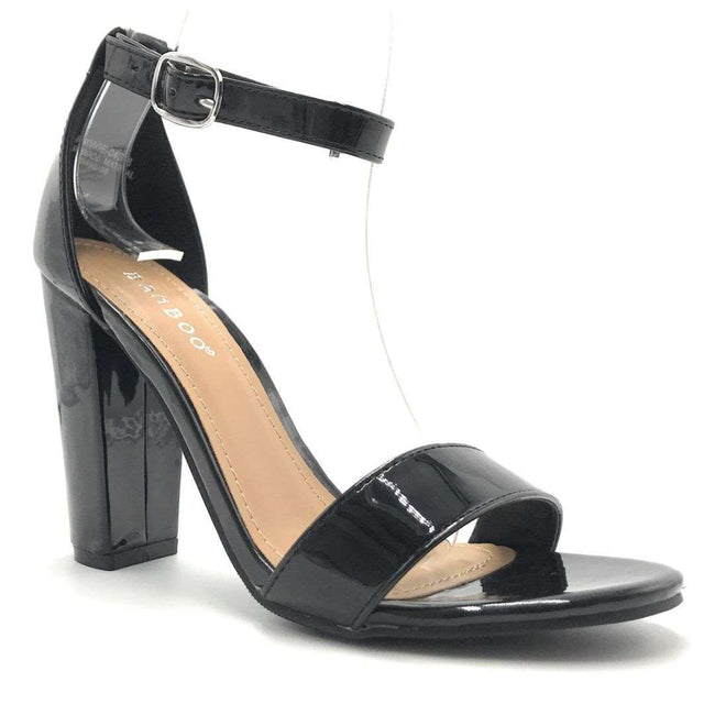 Bamboo Rampage-04S Black Color Heels Shoes for Women