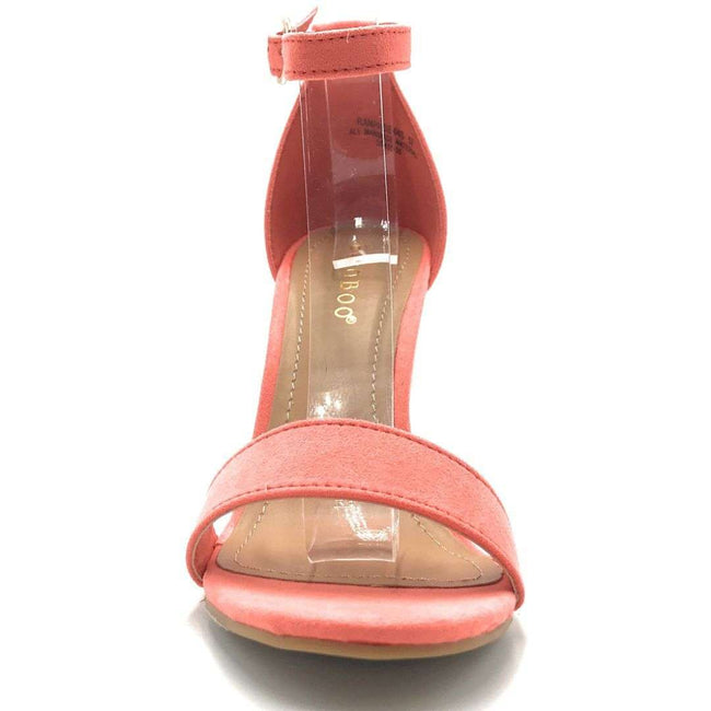 Bamboo Rampage-04S Coral Color Heels Shoes for Women