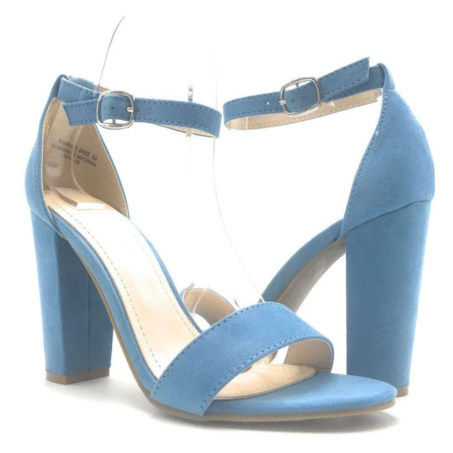 Bamboo Rampage-04S Light Blue Color Heels Shoes for Women