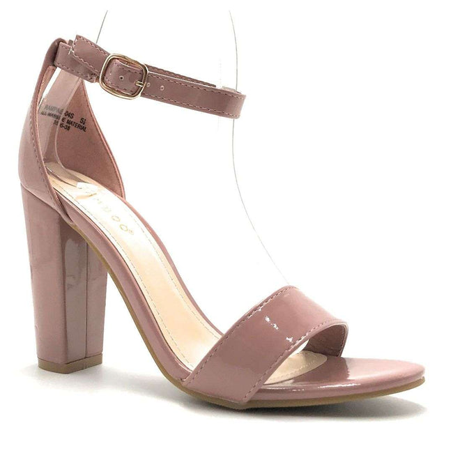 Bamboo Rampage-04S Mauve Color Heels Shoes for Women