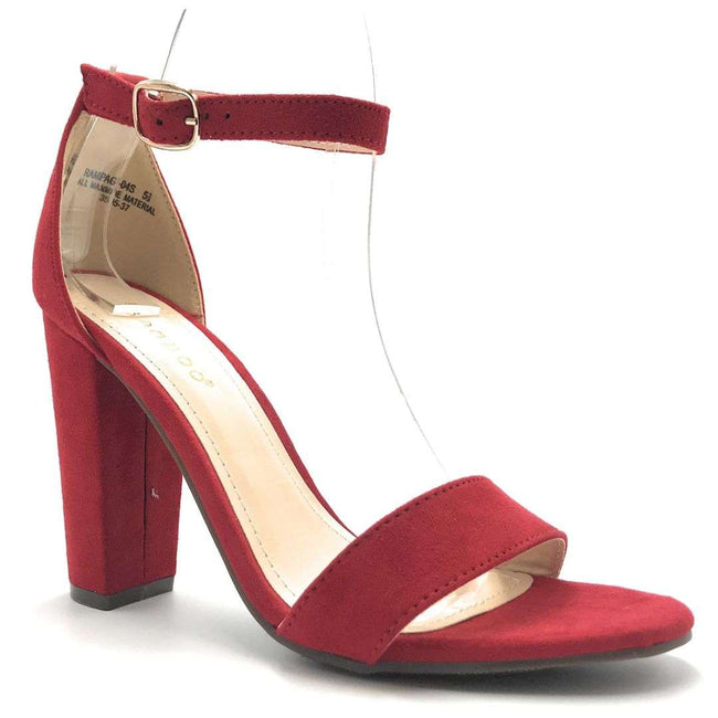 Bamboo Rampage-04S Red Color Heels Shoes for Women