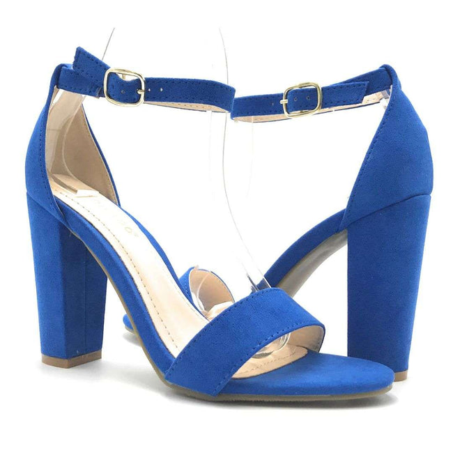 Bamboo Rampage-04S Sapphire Color Heels Shoes for Women