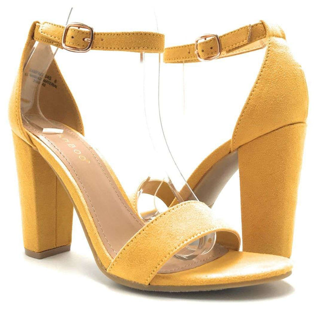 Bamboo Rampage-04Sa Marigold Color Heels Shoes for Women