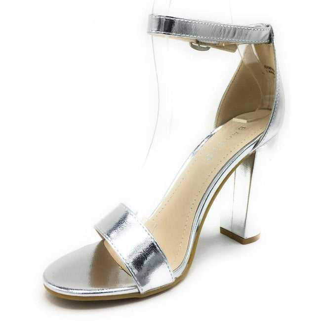 Bamboo Rampage-04Sa Silver Color Heels Shoes for Women